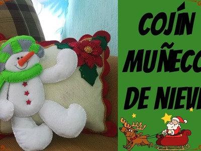 ¡Cojín navideño MUÑECO DE NIEVE!