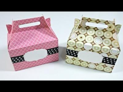 Ideas para envolver Regalos #12 | Caja pequeña con troqueles