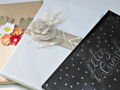 Ideas para envolver Regalos #9 | Simpleza y elegancia