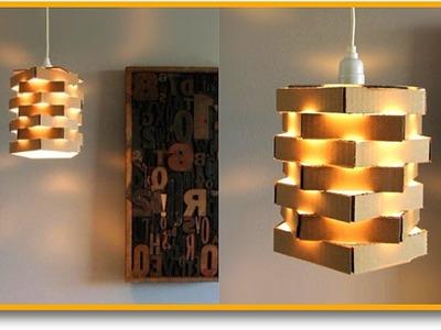 ¡¡Haz La Lámpara Elegante Más Fácil Del Mundo con ¿CARTÓN?!! ???? Muy Fácil | Pablo Inventos