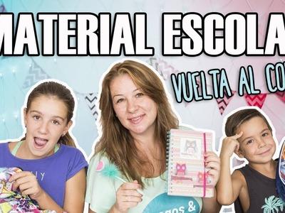 ¡Vuelta al COLE! ????✏️ Material escolar RECICLADO ???? 2017-18. Juegos y Juguetes en Familia