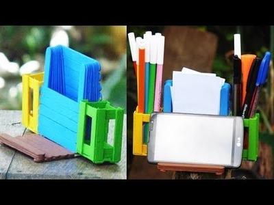 Manualidades Creativas - Organizador con Palitos de Helado - DIY