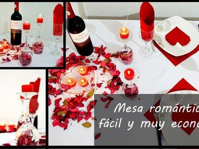 Mesa romantica fácil y económica