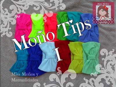 Moño Tips I **No tires los retazos!!!