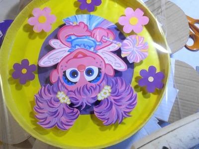 Piñata de tambor en forma de flor 3ra. Parte,  decorado.