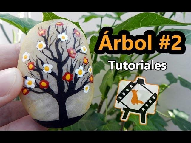 """Pintura en piedras """"Arbol #2"""". Tutorial"""