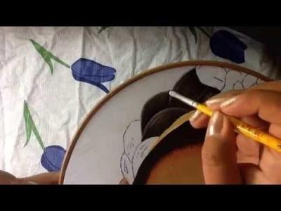 Pintura en tela Frida Kahlo # 3 con cony
