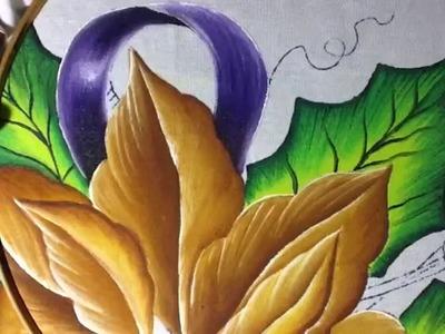 Pintura en tela nochebuena # 2 con cony