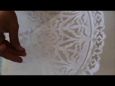 Plantilla de Estarcir o Sténcil realizado a mano con Pirograbador