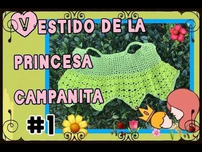 Princesa Campanita Disney. Vestidito a ganchillo . Tejiendo con Erica.