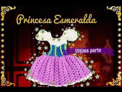 Princesa Esmeralda vestidito a crochet ultima parte.!!!! Tejiendo con Erica.