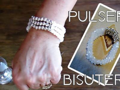 Pulsera de bisutería | Blanca | Paso a paso