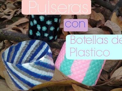 PULSERAS CON BOTELLAS DE PLÁSTICO