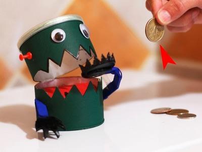Robot Traga Monedas Casero - Hucha Come Monedas - Halloween!
