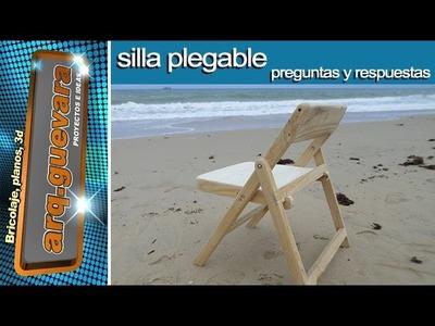 Silla Plegable - preguntas y respuestas - Folding chair - Q & A