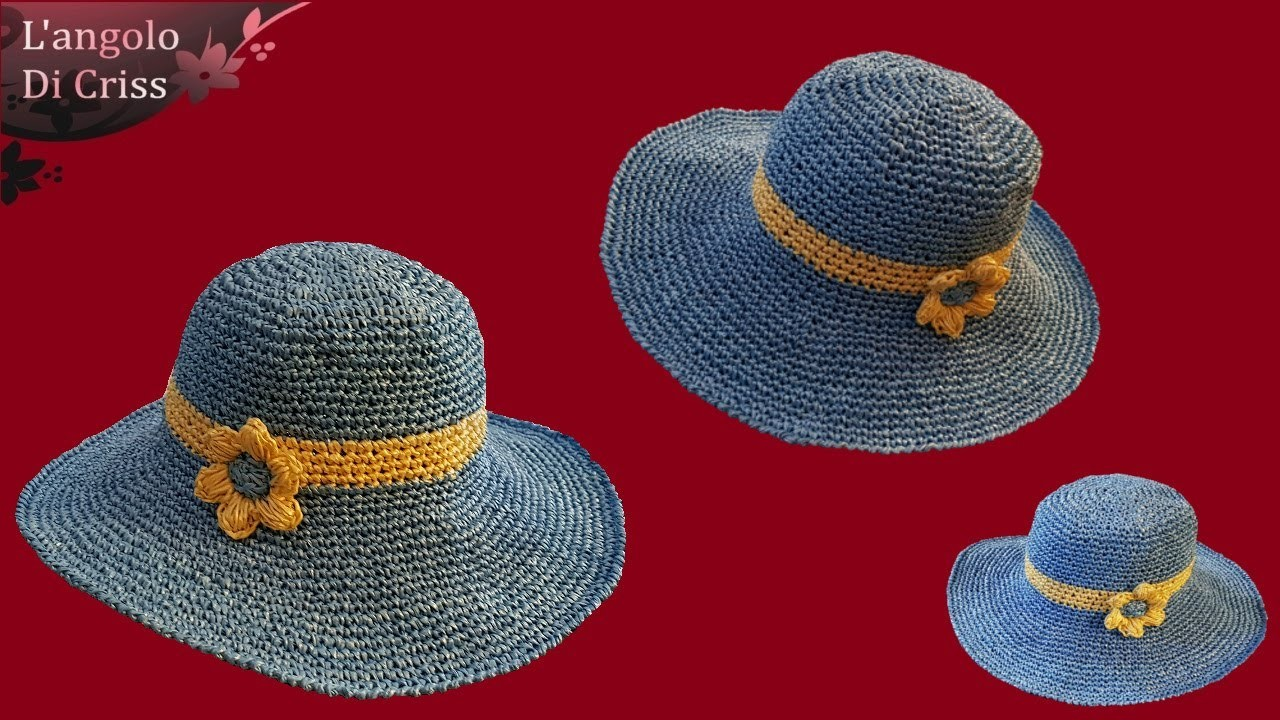 "Tutorial cappello estivo all'uncinetto ""Beach Elegant"" -  uncinetto facile passo a passo EN- ESP."