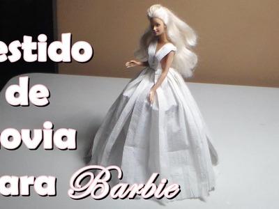 Video respuesta a: ManualidadesConNiños. Vestido de novia para Barbie
