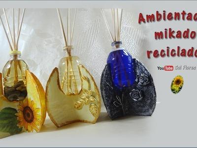 Ambientador mikado reciclado - Recycled mikado air freshener