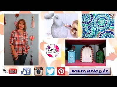 Artez TV Programa 19 #Imitación mosaico veneciano #Tallado en polyfan #Dibujo principiantes
