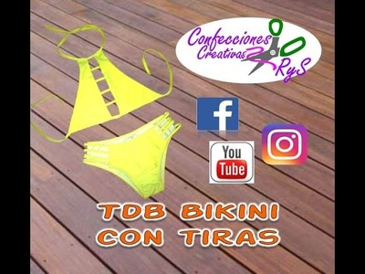 BIKINI DIY TOP HALTER- Curso (Top y Panty Tiras) GRATIS Traje de baño-Swimwear -Swimsuit, Youtube
