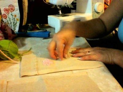 Bolsa de yute para abanico de mano