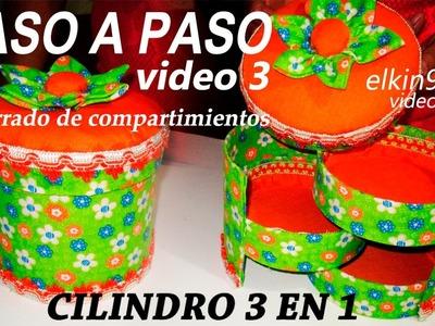 Caja organizador 3 en 1 -Video 3 como forrar los compartimientos.
