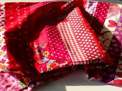 Cómo acolchar tu manta hecha de tiras