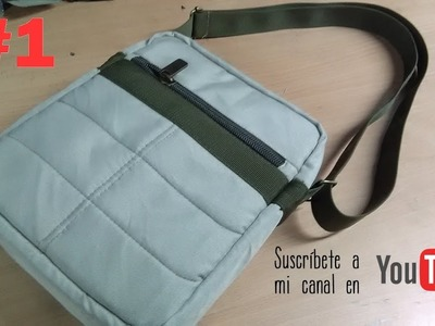 COMO CONFECCIONAR UN MORRAL O BANDOLERA ( PARTE 1) how to make a backpack or shoulder bag 1