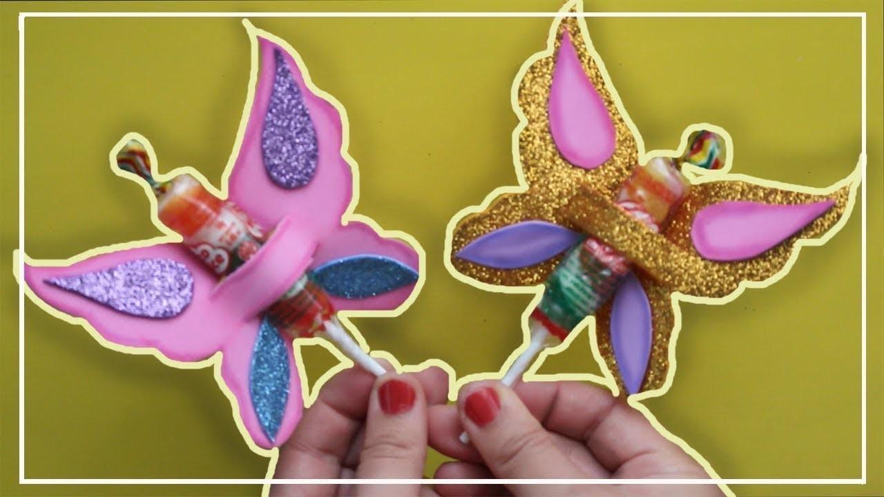Como Decorar Chupetines Con Goma Eva Como Hacer Mariposas