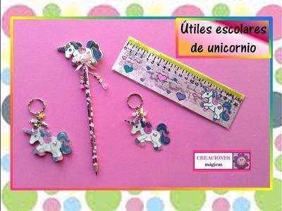 ♥♥Como decorar útiles escolares con unicornios-CREACIONES MÁGICAS♥♥