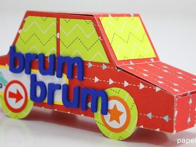 Cómo hacer coche de papel (con plantillas)