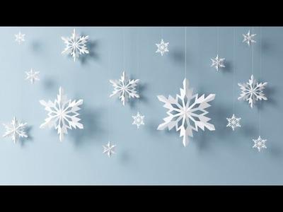 Cómo hacer copos de nieve para decorar en navidad - Decoraciones para navidad.