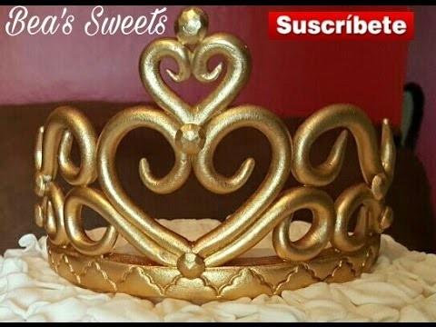 Cómo hacer en fondant una tiara o Corona. Paso a paso