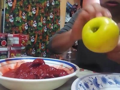 Como hacer manzanas de chamoy o tamarindo . Pedidos al 7225636561