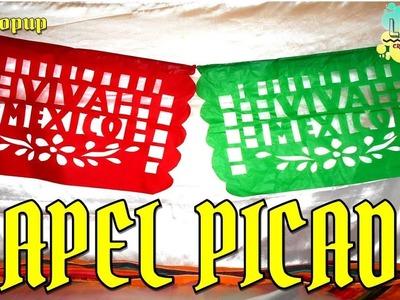 Como hacer papel picado Viva México   Especial de Septiembre fiesta Mexicana