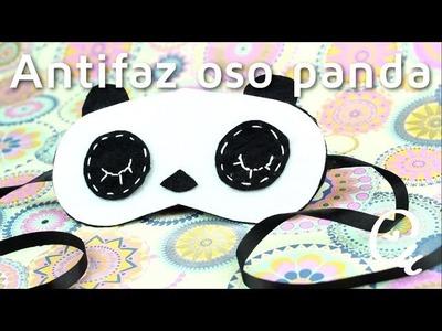Cómo hacer un antifaz para dormir en forma de panda| facilisimo.com