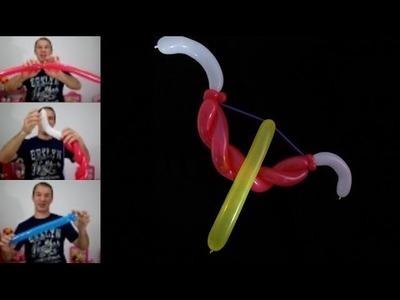 Como hacer un arco y flecha con globos - globoflexia facil - arco y flecha con globos