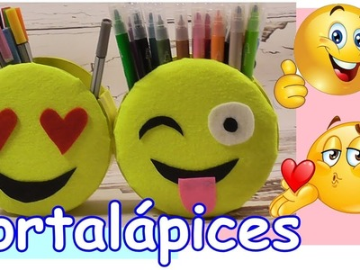 Como hacer un Portalápices de Emojis-Emoticonos con cartón. ???? ????