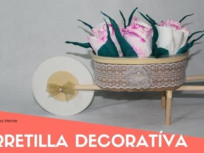 Como hacer una carretilla decorativa