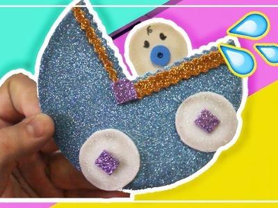 Como Hacer una carrreola para Baby Shower en Foami | Tarjeta Coche de bebe -  Adornos con goma eva