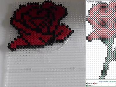 Como hacer una Rosa con Hama Beads