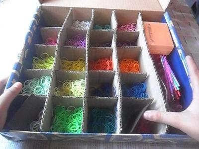 Como organizo mi caja de ligas o gomas