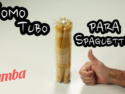 Cómo Reciclar Botella de Plástico #1: Tubo para Spaguettis