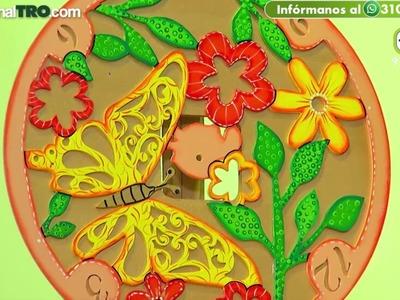 Cuadro de flor en madera - Hecho Con Estilo 24 de Julio