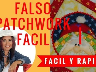 Cuadro Falso Patchwork Parte 2 Decoracion Navideña