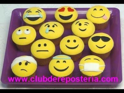 Cupcakes Emoticones - Emoji Cupcakes - Club de Repostería
