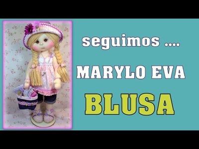 CURSO muñeca Marylo Eva , hacemos la blusa , video- 293