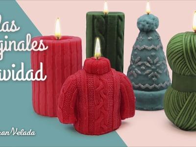 Decoracion con velas para navidad