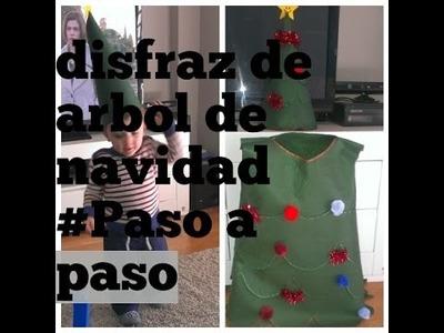 Disfraz Árbol de navidad.paso a paso