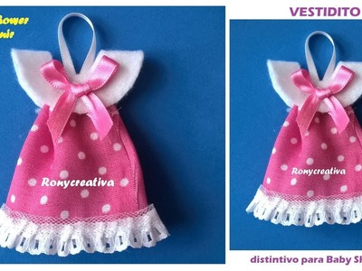 Distintivo para Baby Shower - vestidito de niña VIDEO TUTORIAL